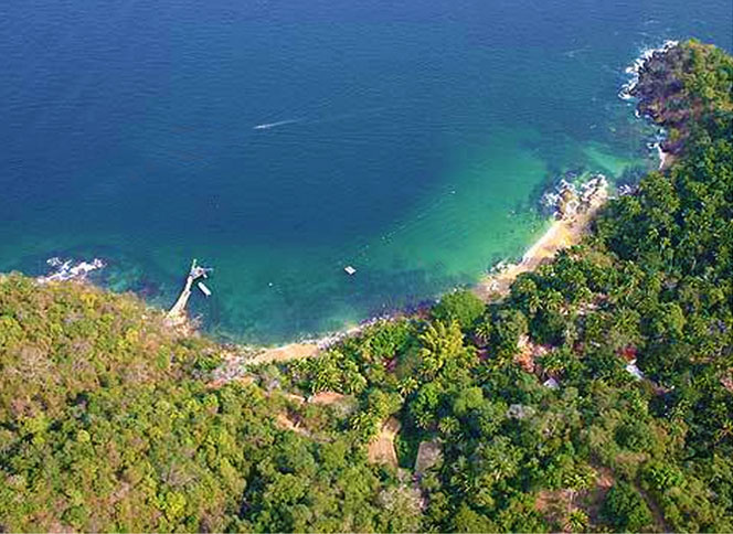 Beach and forest in Las Animas Mexico