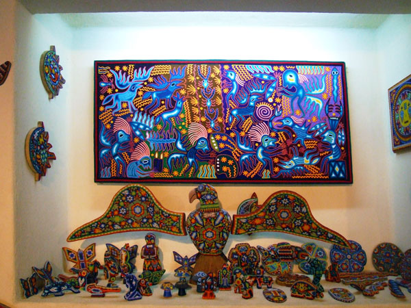 Mexican Huichol Art Painting